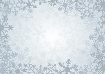 Snowflake Simple Vector Background Silver