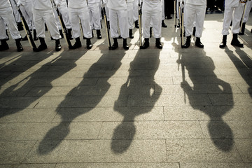 Soldiers during a military parade