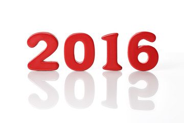New Year 2016 with reflection 2015
