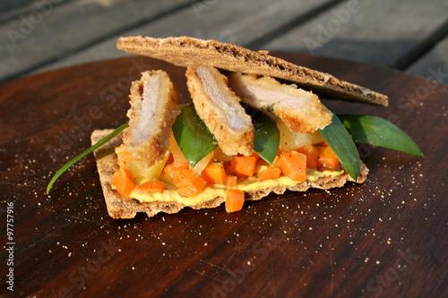 Organic Lifestyle Sandwich Knackebrot Glutenfrei Mohren Barlauch