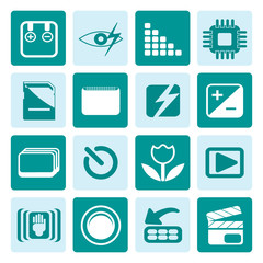 One tone Digital Camera  Performance - Vector Icon Set