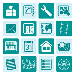 One tone Mobile Phone and Computer icon - Vector Icon Set