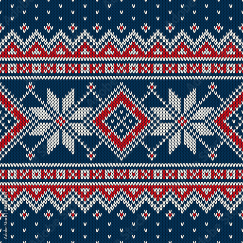 200cfcc7fe60 Winter Holiday Sweater Design. Seamless Knitted Pattern