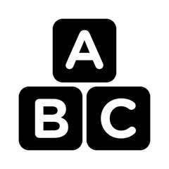 ABC blocks child education flat icon for apps and websites