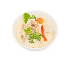 Chicken in coconut milk and galangal