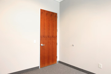 office with door closed