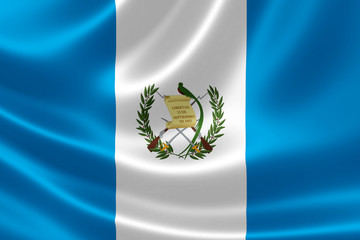 Republic of Guatemala's National Flag