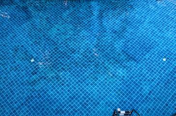 Fototapete - pool reflection blue color