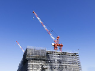 工事現場イメージ 大規模建設現場 臨海副都心