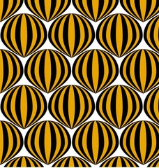Yellow balloons pattern