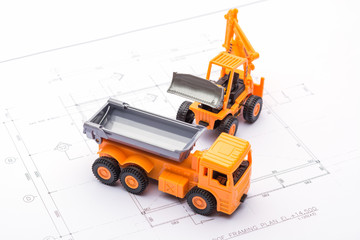 construction toys car