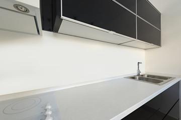 Kitchen, black and white