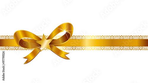 schleife schleifenband geschenkband gold weihnachtsstern. Black Bedroom Furniture Sets. Home Design Ideas