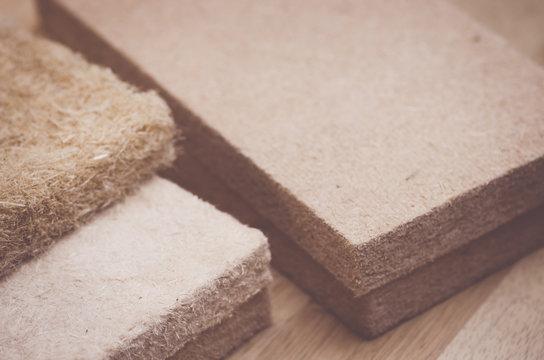 compressed thermal insulating hemp fiber panels - raw industrial materials