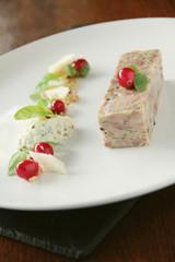 plated pork terrine starter