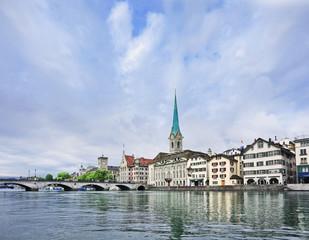 Picturesque, well preserved old city center of Zurich, Switzerland