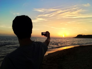 Sunset in the picture