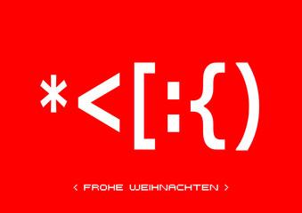 ASCII Art - Karte - Frohe Weihnachten