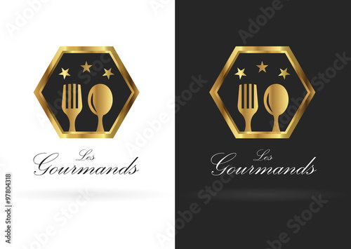 """Exceptionnel logo restaurant gastronomique """" fichier vectoriel libre de droits  VZ62"""