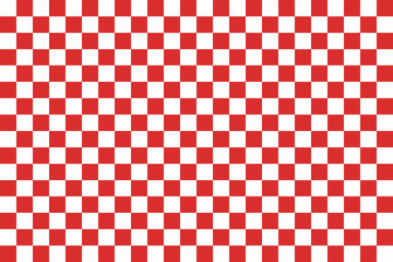 Red seamless pattern chessboard