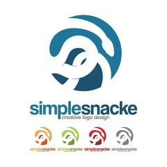 Snake Logo Design Circle