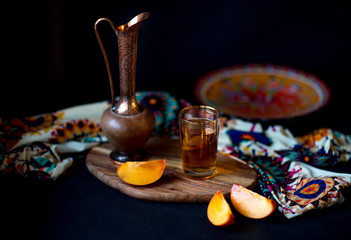 Moroccan tea, Dark photo, selective focus