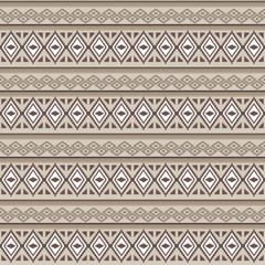 Vector seamless texture. Ethnic tribal geometric pattern. Aztec ornamental style