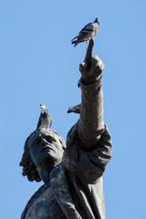 Fotobehang Wenen Columbus Statue at Parque Colon in Santo Domingo