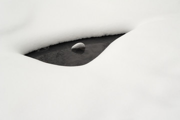 Stream under the snow