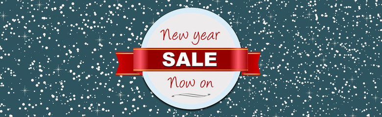 New year January sale web banner