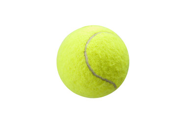 tennis ball yellow on the white backgroound