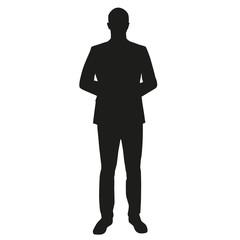 Businessman, dealer, teacher. Vector silhouette