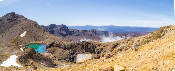 Tongariro crossing New Zealand unesco site national park