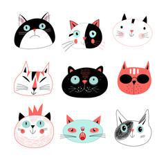 amusing portraits of cats
