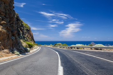 Beautiful day on the Great Ocean Highway in New South Wales, Aus