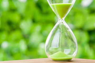 緑色の砂時計