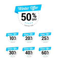 Winter Offer % Off Labels