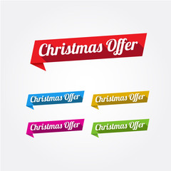 Christmas Offer Long Shadow Labels
