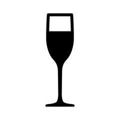 Champagne flute glass flat icon for apps and websites