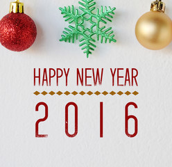 Happy new year 2016 on white background