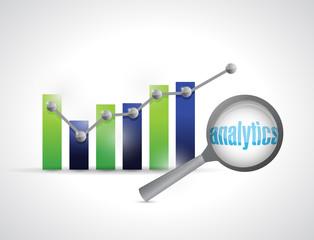 business graph analytics illustration design