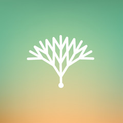 Vector Minimalistic Linear Cybernetic Circuit Tree Logo in a Simple Modern Style