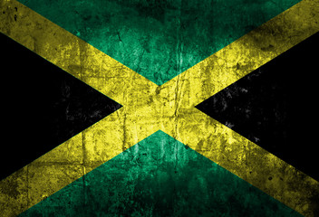 Grunge of Jamaica flag