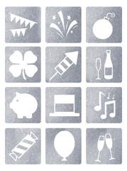Silvester Icons Glitter