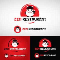 logo restaurant asiatique chinois japonais thaï