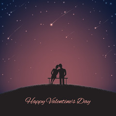Blurred background with hearts for St. Valentine's Day. Vector illustration for your design.