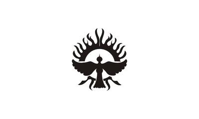 abstract bird tatto design