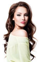 Sensuality beautiful woman with long hair