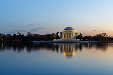 Fototapete - Jefferson Memorial at Sunset