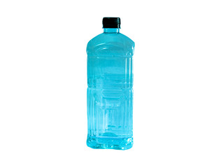 water bottle with black cap